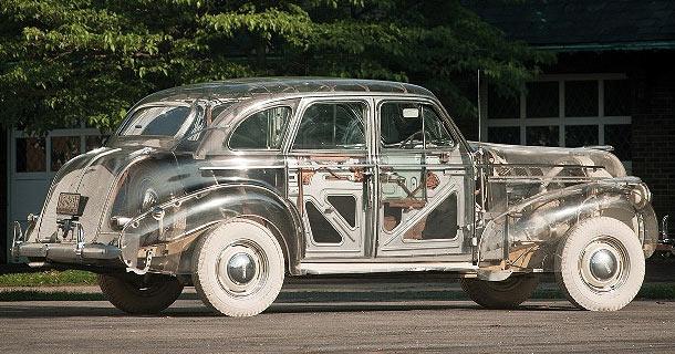"""""""стеклянный"""" ретро автомобиль Понтиак 1939"""